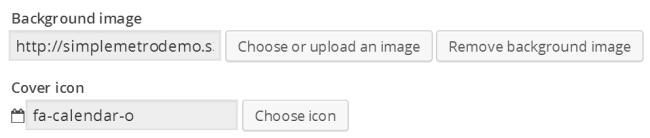 Background image - icon tile